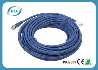 China Conductor protegido modificado para requisitos particulares A.C./CCA de la ventaja los 6.6FT de los enchufes masculinos Cat6 FTP del cable RJ45 del remiendo proveedor