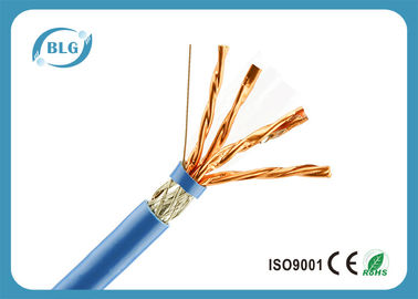 China Cable de Ethernet de alta velocidad del gato 7 1000 pies/cable azul de la red del bulto Cat7 fábrica