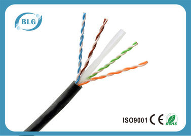 China El solo cable de Ethernet de la red del PE Cat6/8 quita el corazón al negro de cobre del cable de la red de Cat6 UTP distribuidor