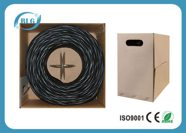 China Cable de Ethernet impermeable al aire libre del PVC Cat5e transmisión de datos interior de Ethernet del 1000FT/de los 305M fábrica