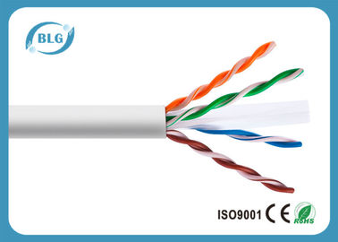 China El CU CCA 4 del cable LAN de Ethernet Cat6 23AWG 24AWG empareja los cables del establecimiento de una red del 1000FT fábrica