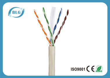 China Gigabit Ethernet Cat6 Cable LAN 23AWG 24AWG Cable UTP Categoría 6 Chaqueta de PVC fábrica
