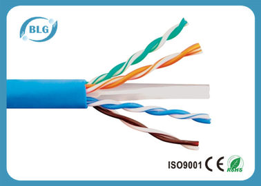 China Cable de cobre trenzado UTP Cat6 de 0,57 mm para cable Gigabit Ethernet y otras redes distribuidor