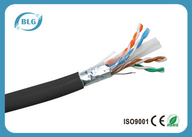 China Cat6 1000FT Blindado 23AWG 24AWG Conductor Cable FTP Ethernet Ethernet interior distribuidor